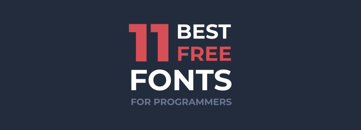 Best Free Fonts for Programming